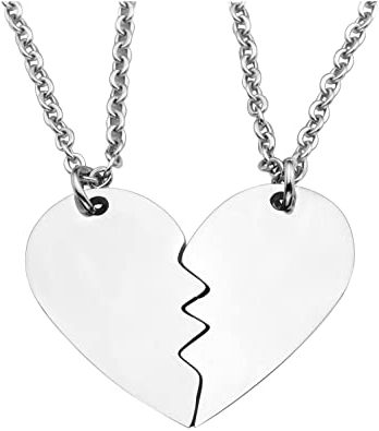 collier couple coeur separable